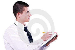 Young Fellow On A Seminar 2 Stock Image - Image: 7734751