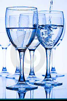 Glasses With Water Stock Image - Image: 7735631