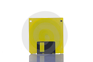 Yellow Floppy Disc Royalty Free Stock Images - Image: 7735919
