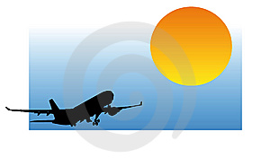 Airplane Silhouette Royalty Free Stock Photography - Image: 7736407
