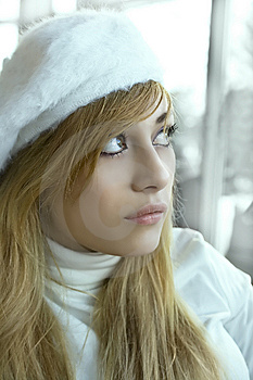 Dreaming Winter Girl Royalty Free Stock Photos - Image: 7737988