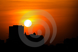 City Sunset Royalty Free Stock Images - Image: 7738319