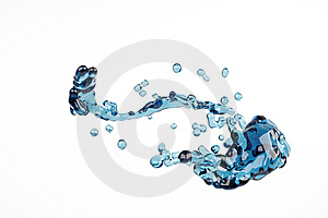 Splash And Bubble Liquid Stock Image - Image: 7738551