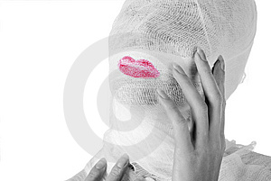 Woman Fully In Bandage Royalty Free Stock Image - Image: 7738756