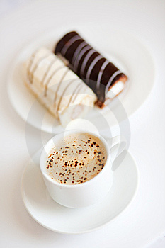 Coffee With Chocolate Cakes Stock Photo - Image: 7739030