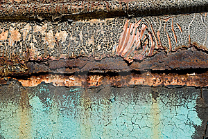 Metal Surface With The Cracked Paint Stock Photo - Image: 7739630