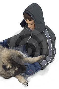 Boy And Dog Royalty Free Stock Photography - Image: 7740827