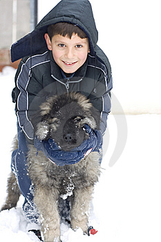 Boy And Dog Royalty Free Stock Photo - Image: 7740895