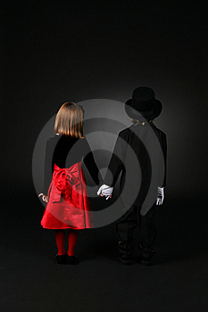 Children In Formal Clothing Standing Back To Stock Image - Image: 7741221