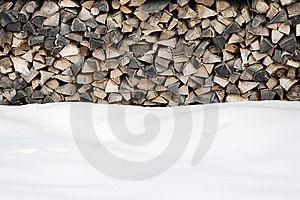 Woodpile Royalty Free Stock Images - Image: 7742239