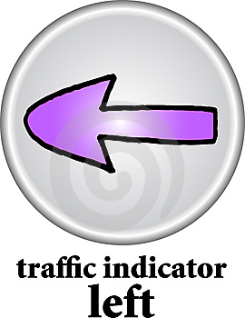 Traffic Indicator - Left Sign Royalty Free Stock Photo - Image: 7743005