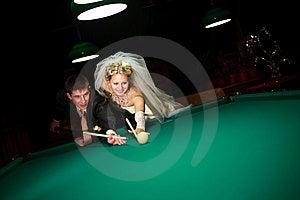 Spielbillard Stockfoto - Bild: 7743300