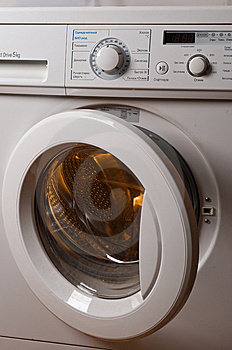 Automatic washing machine. Royalty Free Stock Photo