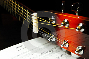 Guitar Headstock And Tuning Pegs Royalty Free Stock Photos - Image: 7744848