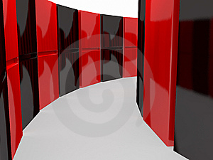 An Isolated Black And Red Domino Blocks Stock Photos - Image: 7745183