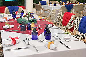 Restaurant Table Setup Stock Photos - Image: 7746173