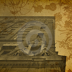 Vintage Floral Architecture Background Stock Photo - Image: 7746270