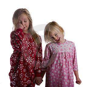 Sleepy Sisters Stock Image - Image: 7746301