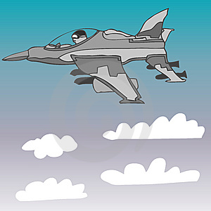 Fighter Jet Vector Royalty Free Stock Photos - Image: 7746648