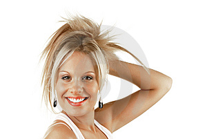 Smiling Blonde Woman Royalty Free Stock Photos - Image: 7748388