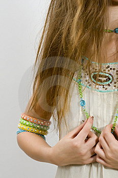 Fashion Girl Showing Bracelets Stock Photos - Image: 7749343