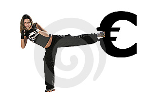 Girl Fighting Royalty Free Stock Images - Image: 7749599