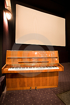 Empty Cinema Auditorium And A Piano Royalty Free Stock Image - Image: 7751076