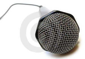 Black Wired Karaoke Microphone. Royalty Free Stock Photos - Image: 7751528