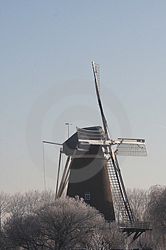 Millin In The Winter In The Netherlands Royalty Free Stock Photography - Image: 7752597