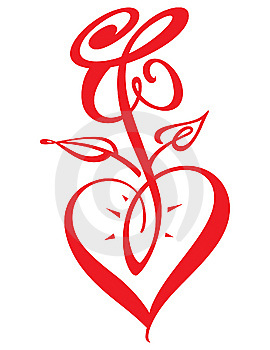 Heart And Rose Royalty Free Stock Images - Image: 7752759