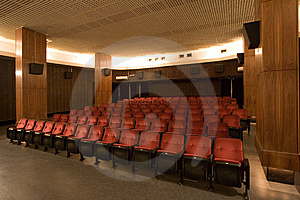 Empty Small Cinema Auditorium Stock Image - Image: 7752831