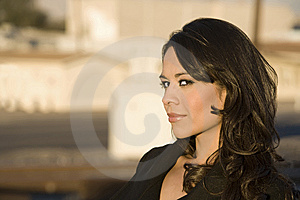 Beautiful Woman In A Trenchcoat Royalty Free Stock Image - Image: 7755426