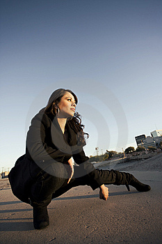 Beautiful Woman In A Trenchcoat Stock Photos - Image: 7755633