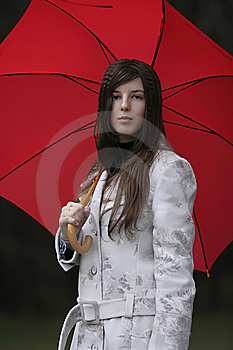 Girl With Umbrella Royalty Free Stock Photography - Image: 7756797