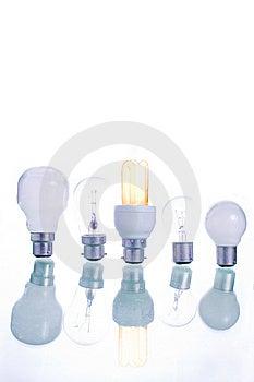 Row Of Lightbulbs Royalty Free Stock Photos - Image: 7756878