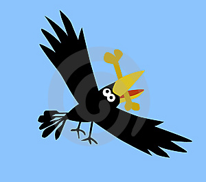 Drawing Ravens Royalty Free Stock Photography - Image: 7759227