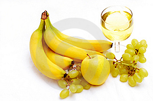 Yellow Fruits And White Wine Royalty Free Stock Photos - Image: 7759718