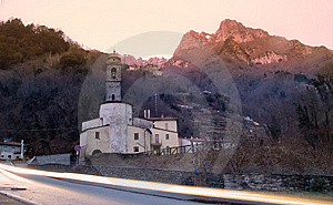 Church In The Apuan Alps Royalty Free Stock Photography - Image: 7759967