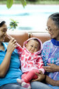 Portrait of happy Asian family Royalty Free Stock Photography