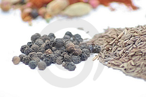 Black Pepper And Caraway Seed Royalty Free Stock Images - Image: 7760309