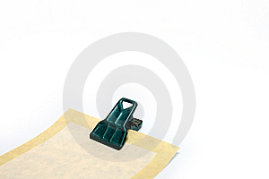 Paper Note With Clip Stock Image - Image: 7760601