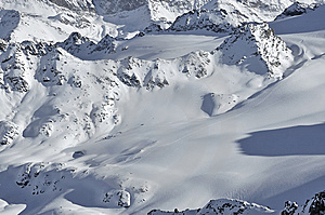 Ski Tracks Ina Mountain Wilderness Royalty Free Stock Photography - Image: 7763137