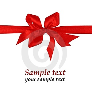 Red Material Ribbon Royalty Free Stock Photos - Image: 7763458