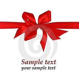 Red Material Ribbon Royalty Free Stock Photos - Image: 7763458