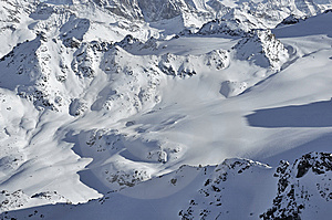 Wilderness Skiing Across A Snow Landscape Stock Photo - Image: 7763570