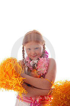 Young Cheerleader Royalty Free Stock Images - Image: 7764789