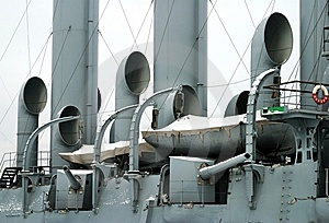Saint Petersburg, Cruiser Aurora (detail) Stock Images - Image: 7765114