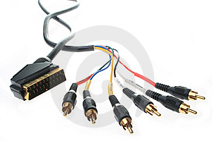 Component Cable Stock Photo - Image: 7765130
