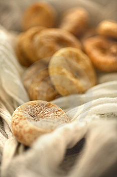 Dry Figs In Linen Tablecloth Stock Photography - Image: 7765522
