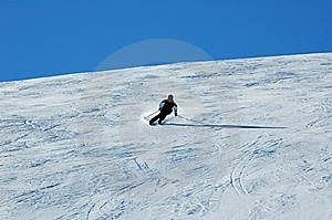 Skiing In The Davos Royalty Free Stock Image - Image: 7765736